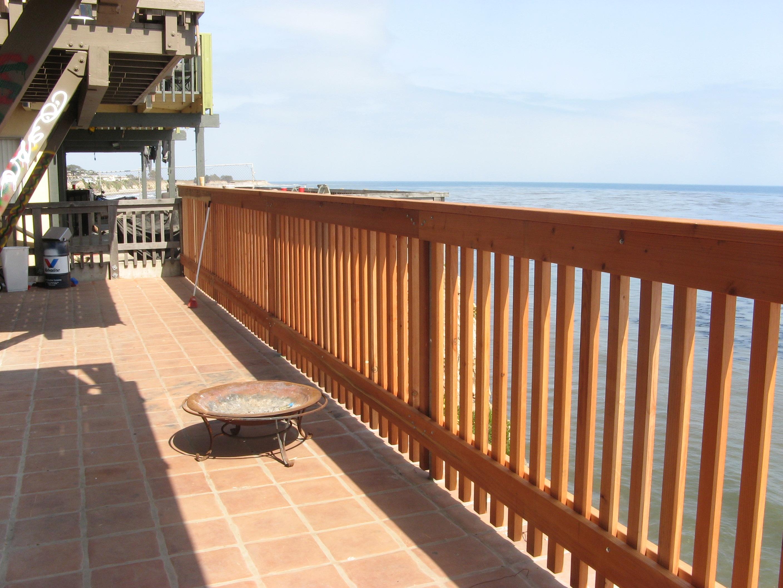 Fence for deck on Hammonds Beach House