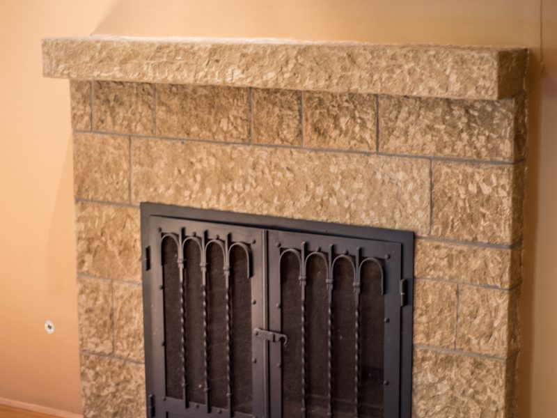 Stonework for Fireplace in Sycamore Canyon
