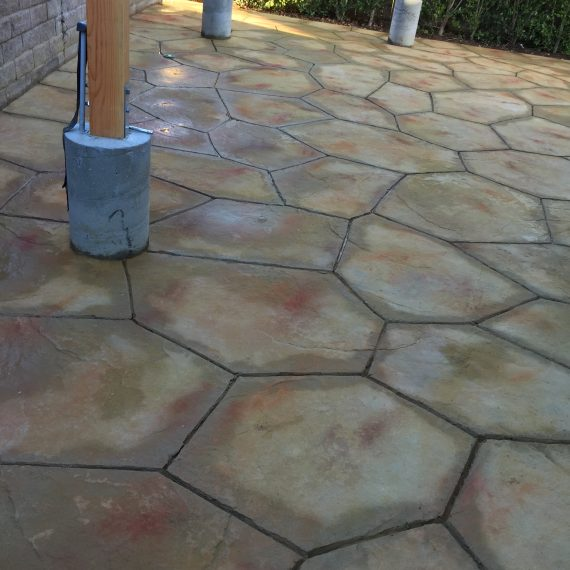 Stamped Concrete installed